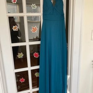 Azazie Bridesmaid Dress Formal Gown in Peacock